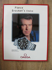 RARE Omega Seamaster/James Bond/Pierce Brosnan Framed Original Advertsing Poster