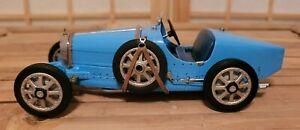 1:24 scale die cast Franklin Mint ,Blue, 1924 Bugatti Type 35 Race Car