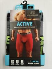 Russell Performance Long Leg Boxer Briefs 2 Pack Size Large 36-38 in