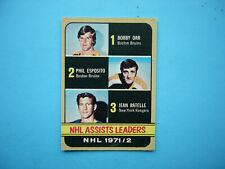 1972/73 O-PEE-CHEE NHL HOCKEY CARD #283 BOBBY ORR PHIL ESPOSITO EX+ SHARP!! OPC