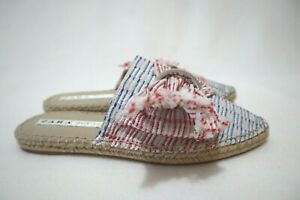 Size 8 Womens Colorful Mules Half Shoes Espadrille Flats