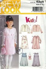 New Look 6238 Girls' Jacket, Dress and Purse 2, 3, 4, 5, 6, 7   Sewing Pattern