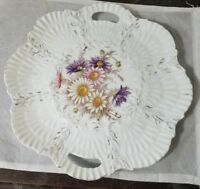 VINTAGE Beautiful  Hand Painted  OYSTER PLATE