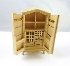 Dollhouse Miniature Unfinished 1:24 HALF Scale Armoire, 2582/S