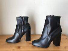 Rebecca Minkoff Bryce black leather ankle booties sock boots women's 7.5M