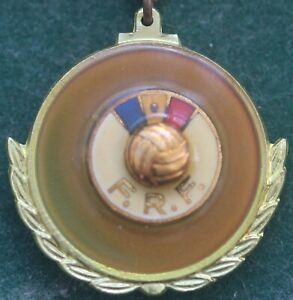 Rare Romania Football Association Enamel Keychain