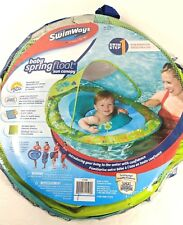 Swimways Baby Spring Pool Float Sun Canopy Green Sea Life Summer Toy 9-24 Months