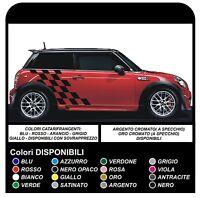 MINI COOPER adesivi AUTO grafica Strisce Vinile COOPER S ONE JCW 1.4 1.6 SCACCHI
