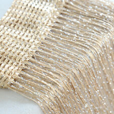Elegant String Curtain Beads Decor Tassel Door Window Panel Room Divider Panel