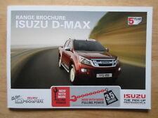 ISUZU D MAX range 2012 UK Mkt prestige glossy sales brochure