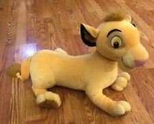 "Disney Lion King Large Plush Simba 2002 Hasbro 10251/10250 21"" x 19"""
