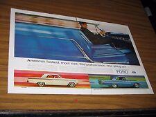 1963 Print Ad '63 Ford Super Torque Galaxie 500/XL & Fairlane 2-Door