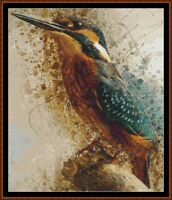 SPIRIT KINGFISHER cross stitch pattern PDF (punto cruz kreuzstich point de croix