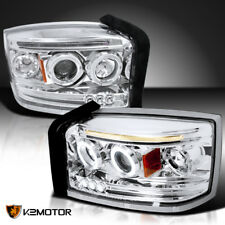 2005-2007 Dodge Dakota LED Twin Halo Projector Headlights Left+Right