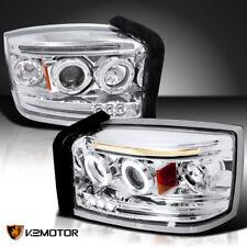 2005-2007 Dodge Dakota LED Twin Halo Projector Headlights Left+Right