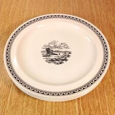 "WEDGWOOD Kansas City Service WESTERN COVERED WAGON 10"" Dinner Plates (4) *MINT*"