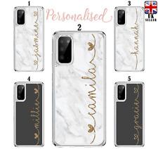 Nombre Personalizado caso de mármol para Samsung Galaxy S10 S20 A10 A40 A41 A51 A21s