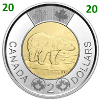 2020 ❗ New ❗ Canada Toonie 2 Dollars Coin Polar Bear UNC 2020