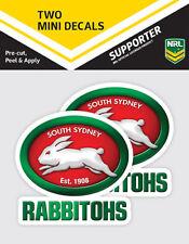 Official South Sydney Rabbitohs NRL iTag UV Car Team Logo Mini Decal Sticker x 2