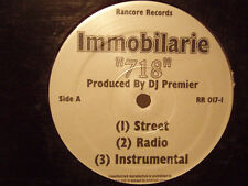 """IMMOBILARIE + DJ PREMIER - 718 / BOUNCE TO THIS (12"""")  2000!!!  RARE!!!"""