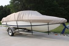 NEW VORTEX COMBO PACK HEAVY DUTY TAN/BEIGE 17 18 19' BOAT COVER + SUPPORT SYSTEM
