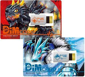 Dim Card Set Vol. 1 Volcanic Beat & Blizzard Fang for Vital Bracelet Digimon