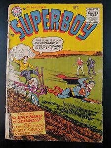 ⭐️ SUPERBOY #43 (1955 DC Comics) LOW GRADE Book
