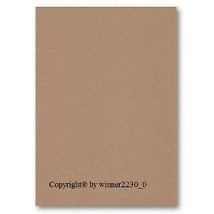 100 Sheets of A4 BROWN KRAFT 85gsm Recycled Paper DIY 297x210mm Craft Invitation