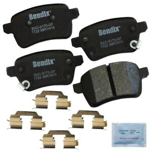 Rear Brake Pad Set For 2014-2017 Fiat 500L 2015 2016 Bendix CFC1722