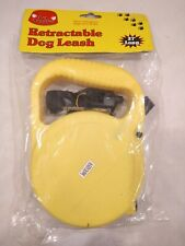 BRAND NEW 27 ft FOOT AUTOMATIC RETRACTABLE YELLOW LEASH FOR UP TO 30lb DOGS