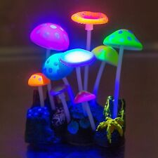 Aquarium Decorations,Govine Glowing Effect Artificial Mushroom for Fish Tank