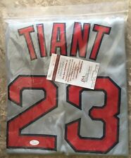 LUIS TIANT autographed signed Red Sox grey Jersey JSA Witness #W746965-BRAND NEW