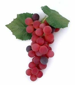 """Artificial 7.5"""" Bunch of Grapes, 3 Color Choices Fake Grape Concord Red Green"""