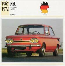 1967-1972 NSU 1200 TT Classic Car Photograph / Information Maxi Card