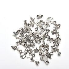 40PCS Tibetan Silver Charms Dangle Beads Pendant For Bracelet Jewelry Making DIY