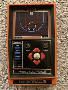 Vintage Mattel Electronics Basketball 2 Handheld Game Hong Kong 1979 *Working*