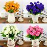 Artificial Chrysanthemum Silk Flowers Floral Bouquet 9 Heads Home Decor Wedding