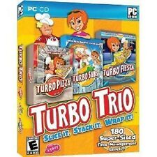 NEW PC CD-ROM Software Turbo Trio (Pizza, Subs, Fiesta) free shipping to U.S.