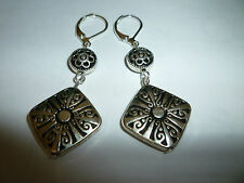 New Brighton Silver Dangling On Custom Silver Plate Lever Back Earrings