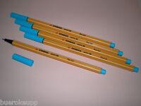 5 Stk. Stabilo Point 88 Fineliner 88/57 hell-blau Filzstift Filzschreiber Fein