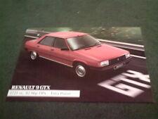 April 1984 RENAULT 9 GTX Saloon 1721cc - UK COLOUR LEAFLET BROCHURE