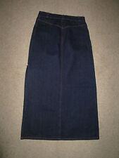 BCBG Size 8 Long Dark Denim Skirt With Side Slit