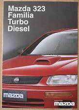 rare catalogue Mazda 323 Familia Turbo Diesel  -France 01/95 - 4 p