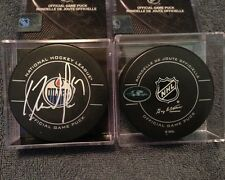 SIGNED OFFICIAL NHL GAME PUCK EDMONTON OILERS DAVID PERRON