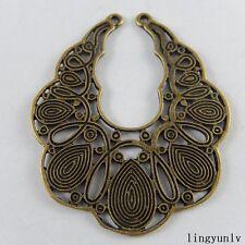 51017 Antique Bronze Alloy Hollow Pattern Jewelry Pendants Findings Jewelry 5x