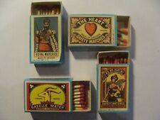 4 Boites allumettes - RIZLA + - Copies d'anciennes étiquettes de SUEDE -2 photos