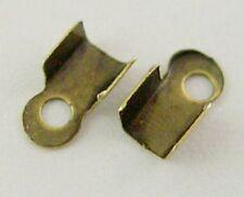 LOT de 150 EMBOUTS à écraser plier 6 x 3mm couleur BRONZE SANS NICKEL bijoux