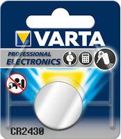 100x Varta CR2430 (100x1er Blister) 3V Batterie Lithium Knopfzelle 280 mAh