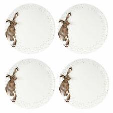 Royal Worcester Set of 4 Wrendale Dinner Plates - Hare Design 26.7 m / 10.5 inch