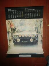 Calendrier de garage    RENAULT 1980  Renault alpine , F1  , R5 turbo JF VAUTRIN